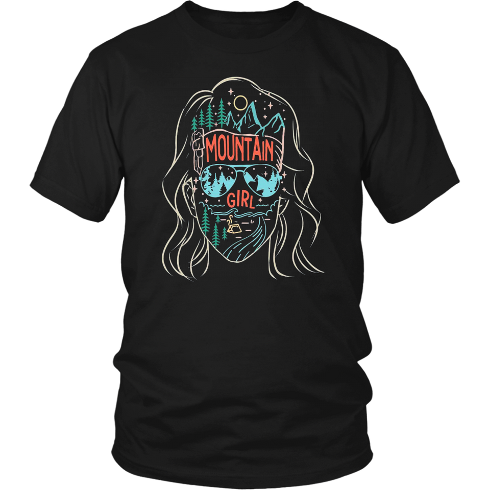 Moutain Girl Vintage Shirt Camping Girl