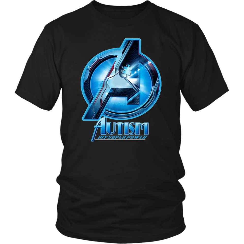 AUTISM - MY SUPER POWER SHIRT AVENGERS