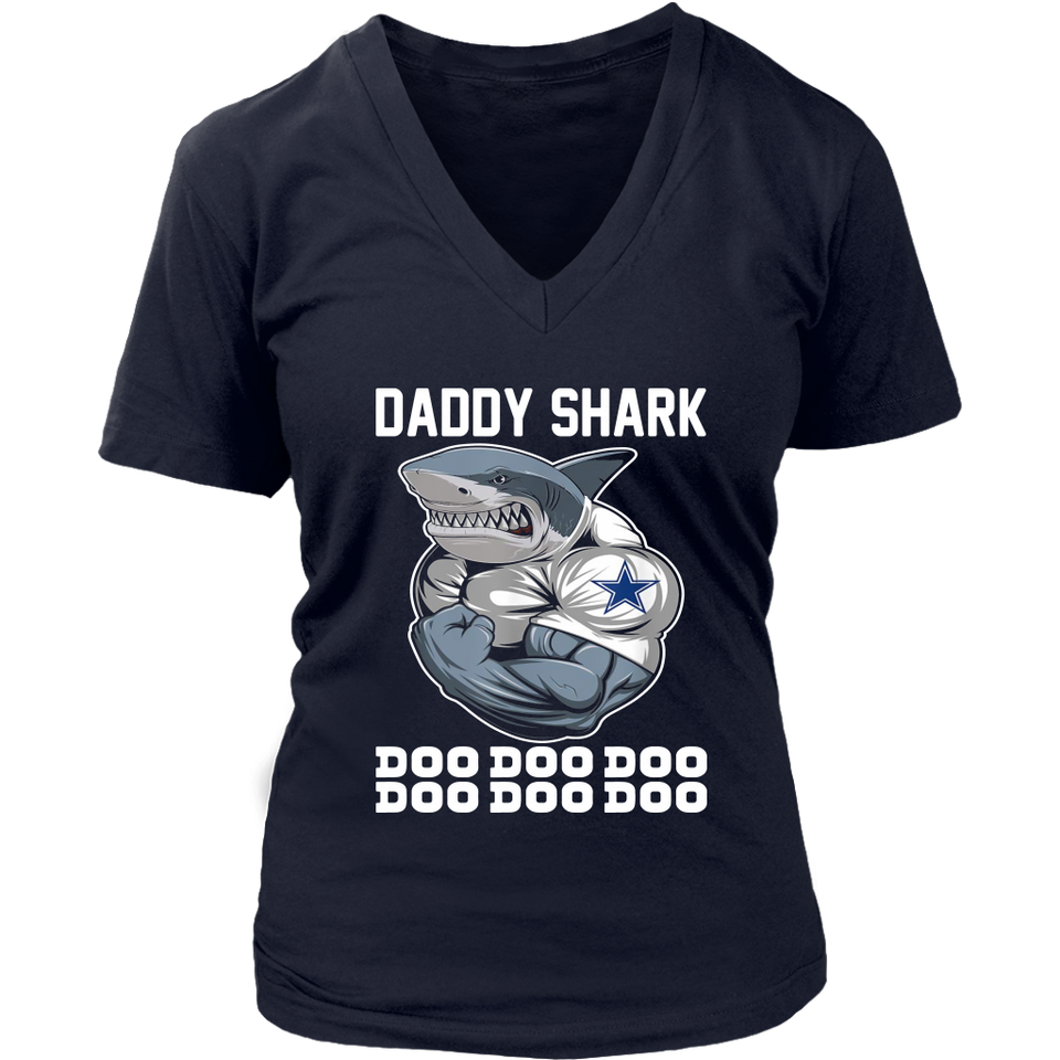 Daddy Shark Body Building Dallas Cowboy Doo Doo shirt