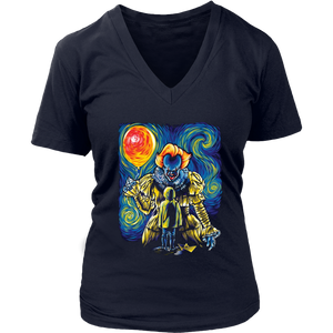 PENNYWISE AND GEORGIE SHIRT Pennywise Van Gogh Style - Funny Halloween