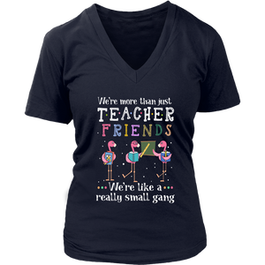 Flamingo We're More Than Just Teacher Friends shirt
