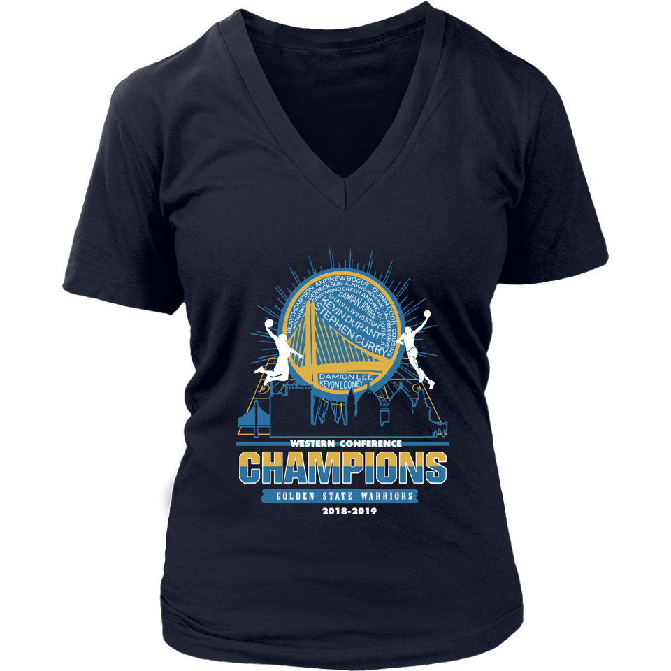 Western Conference Champions - Team Roster - Golden State Warriors 2018 2019 Shirt