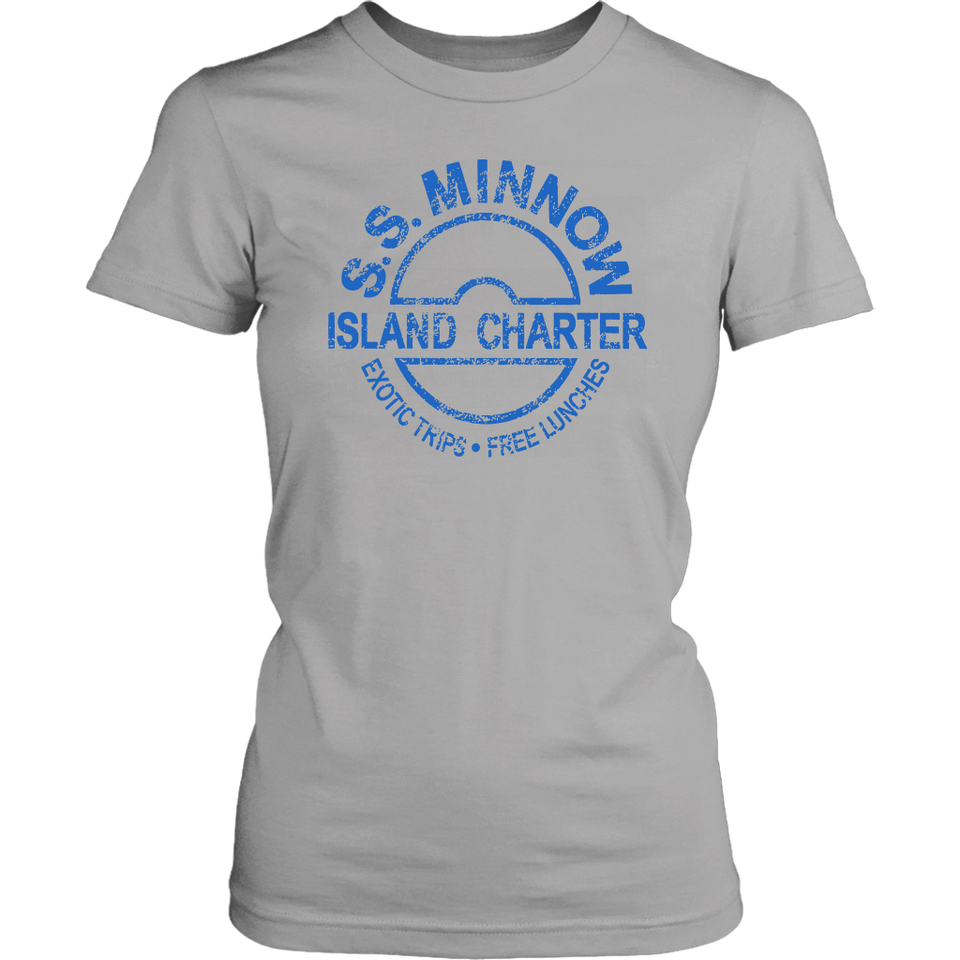 S.S.Minnow Exotic Trips Free Lunches Ladies Shirt