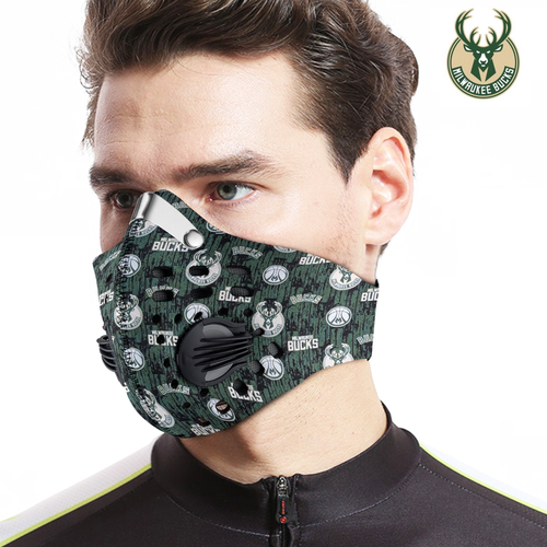 Milwaukee Bucks Carbon PM 2,5 Face Mask