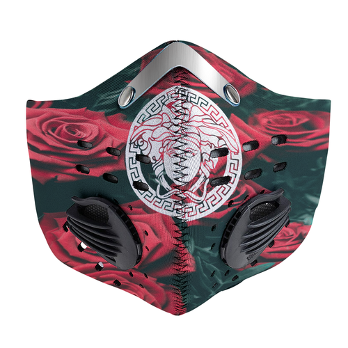 Versace Red garden roses Carbon PM 2,5 Face Mask