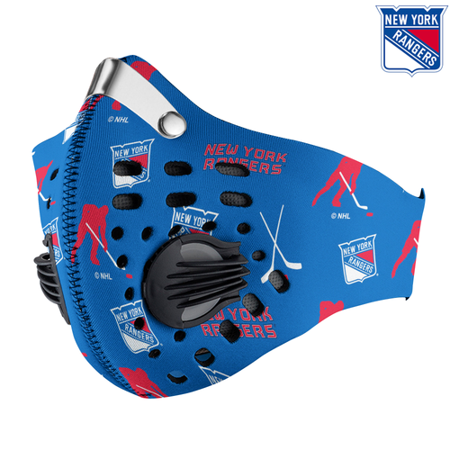 New York Rangers Carbon PM 2,5 Face Mask