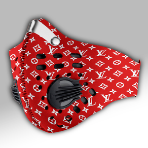 Louis Vuitton Red Carbon PM 2,5 Face Mask