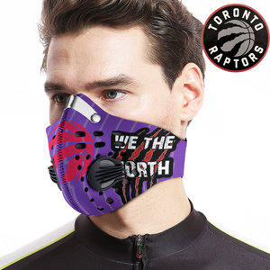 Toronto Raptors Carbon PM 2,5 Face Mask