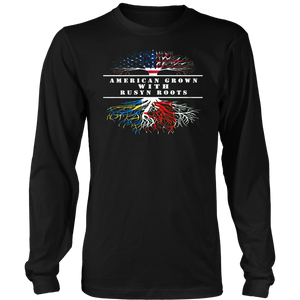 AMERICAN GROWN WITH RUSYN ROOTS SHIRT American-Rusyn heritage