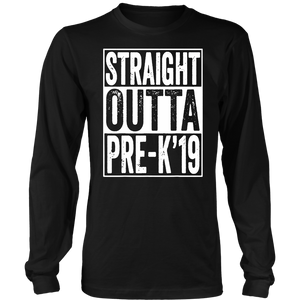 Straight Outta Pre-K 2019 T-Shirt Preschool Graduation Gifts