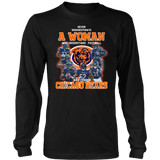 Never Underestimate A Woman Who Understands Football And Loves Chicago Bears Shirt