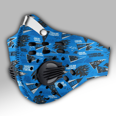 Carolina Panthers  Retro Carbon PM 2,5 Face Mask