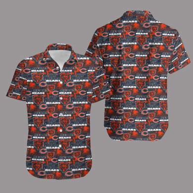 Chicago Bears Retro Hawaiian Shirt