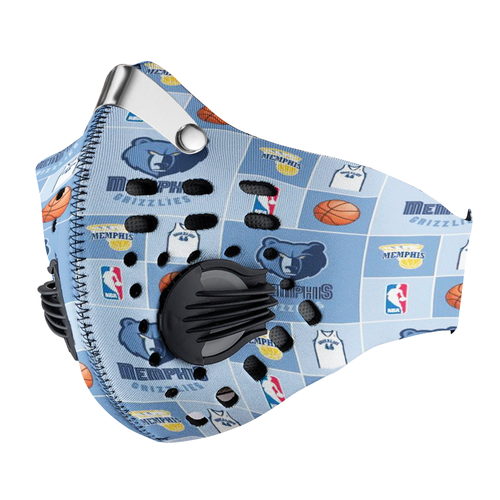 Memphis Grizzlies Carbon PM 2,5 Face Mask