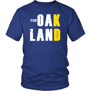 FOR OAK LAND SHIRT GOLDEN STATE WARRIOS