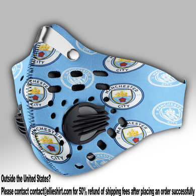 Manchester City Fc Carbon PM 2,5 Face Mask