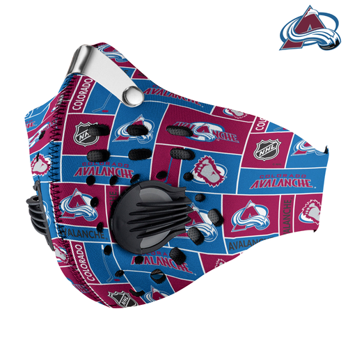 Colorado Avalanche Carbon PM 2,5 Face Mask