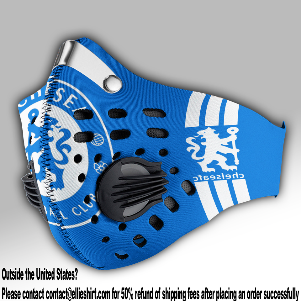 Chelsea FC Carbon PM 2,5 Face Mask