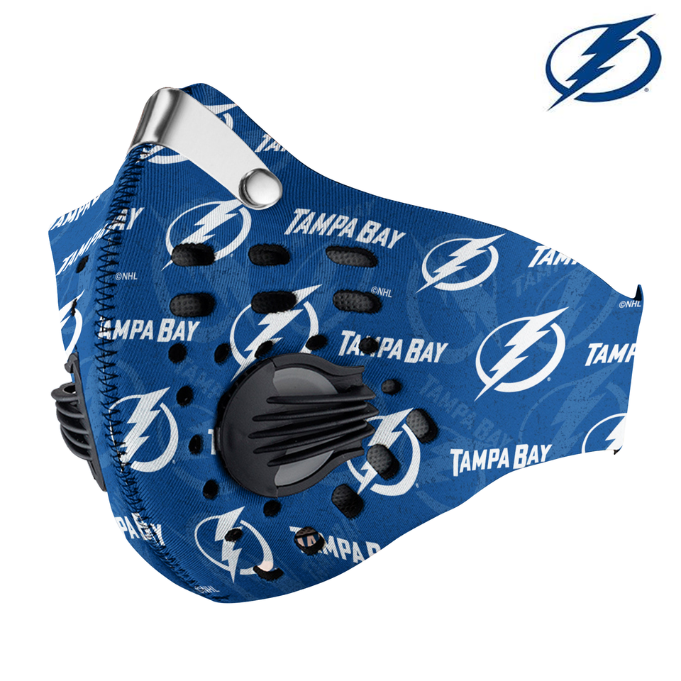 Tampa Bay Lightning Carbon PM 2,5 Face Mask