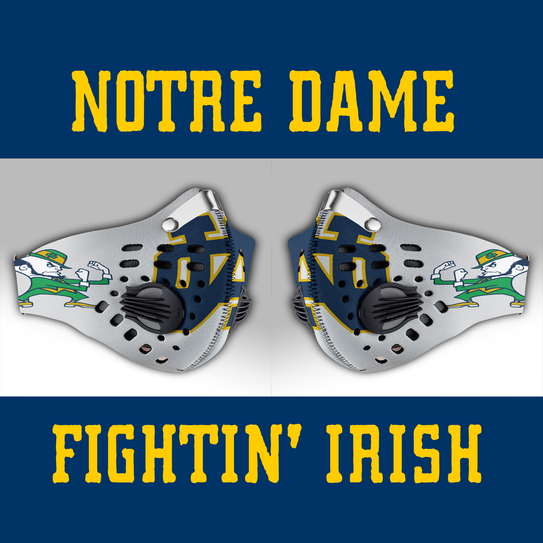 Notre Dame Fighting Irish Carbon PM 2,5 Face Mask