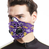 LSU Tigers Carbon PM 2,5 Face Mask