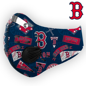 Boston Red Sox Carbon PM 2,5 Face Mask