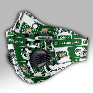Ohio Bobcats Carbon PM 2,5 Face Mask