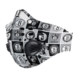 Brooklyn Nets Carbon PM 2,5 Face Mask