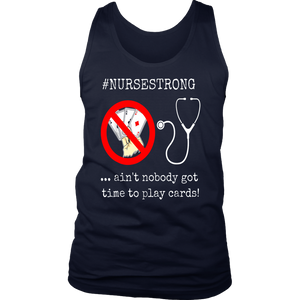 Funny Nurse Playing Cards Shuffle Up and Deal Poker T-Shirt