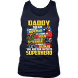 Daddy Superhero T-Shirt MEN S Dad, Father s Day, Marvel, Fathers Day IronmanFunny