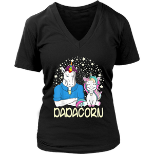 Dadacorn Unicorn Dad And Baby Fathers Day Shirt