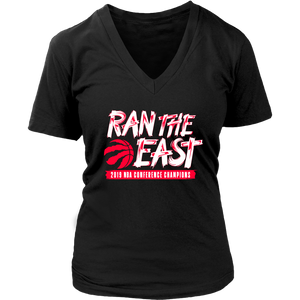 RAN THE EAST SHIRT 2019 NBA CONFERENCE CHAMPIONs - Toronto Raptors