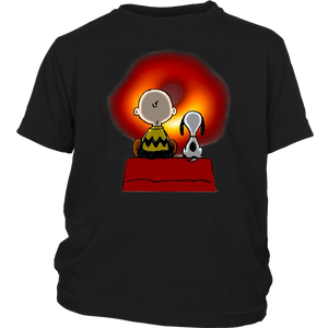 Snoopy And Charlie Brown With Black Hole Shirt
