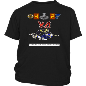 Torey Krug Knock Out Robert Thomas Shirt Funny Video Game Retro - Stanley Cup Final 2019 Game 1 - Boston Bruins vs St. Louis Blues