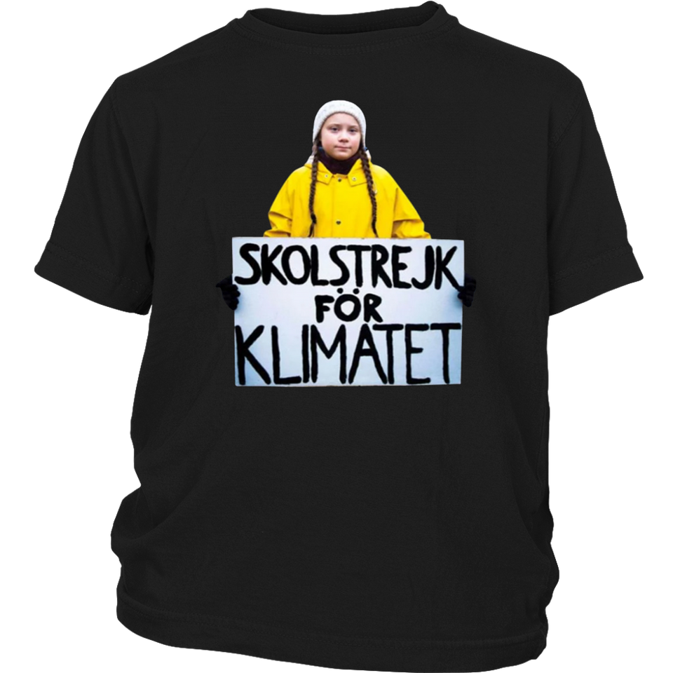 Greta Thunberg Skolstrejk For Klimatet Tee Shirt