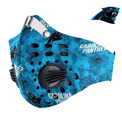 Carolina Panthers Carbon PM 2,5 Face Mask