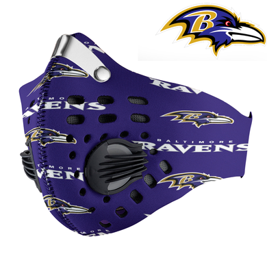 Baltimore Ravens Carbon PM 2,5 Face Mask