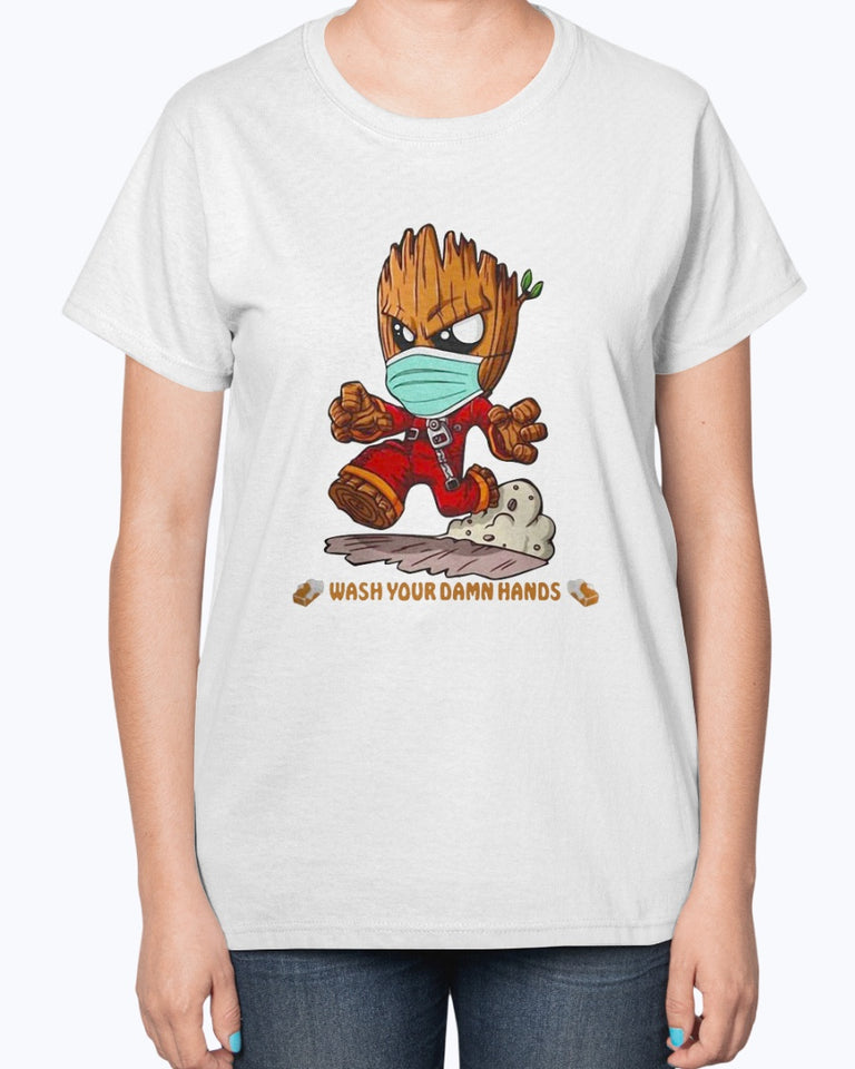 Baby Groot Wash Your Damn Hands T-Shirt