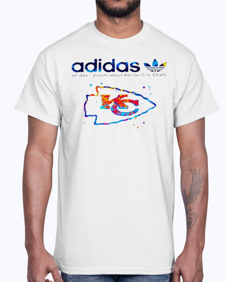 ADIDAS ALL DAY I DREAM ABOUT KANSAS CITY CHIEFS SHIRT