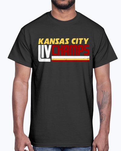 KANSAS CITY LIV CHAMPS SHIRT Kansas City Chiefs Super Bowl LIV Champions
