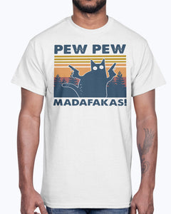 Cat Pew Pew Madafakas Vintage Shirt
