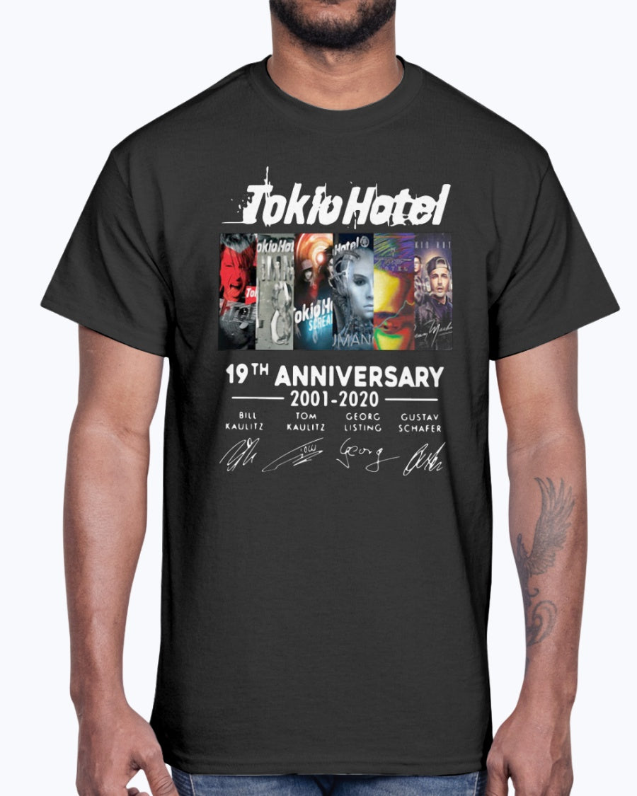TOKIO HOTEL 19TH ANNIVERSARY 2001 2020 THANK YOU FOR THE MEMORIES SHIRT