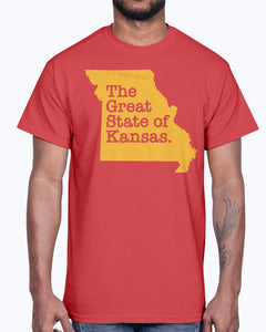 The Great State Of Kansas T-Shirt - Kansas City Chiefs