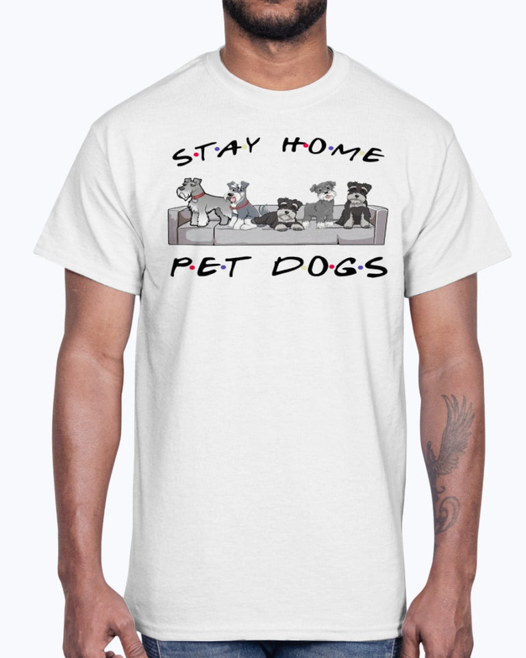 Friends stay home pet dogs shirt