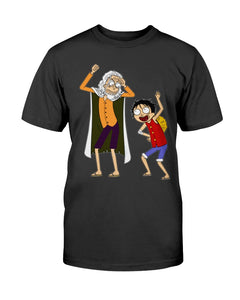 Rick And Morty One Piece Rayleigh and Luffy T-Shirt