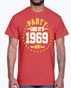 PARTY LIKE IT'S 1969 KANSAS CITY SHIRT Kansas City Chiefs Super Bowl LIV Champions