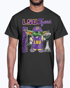 Baby Yoda Lsu Tigers Champions Chick Fil A Peach Bowl 2019 Shirt
