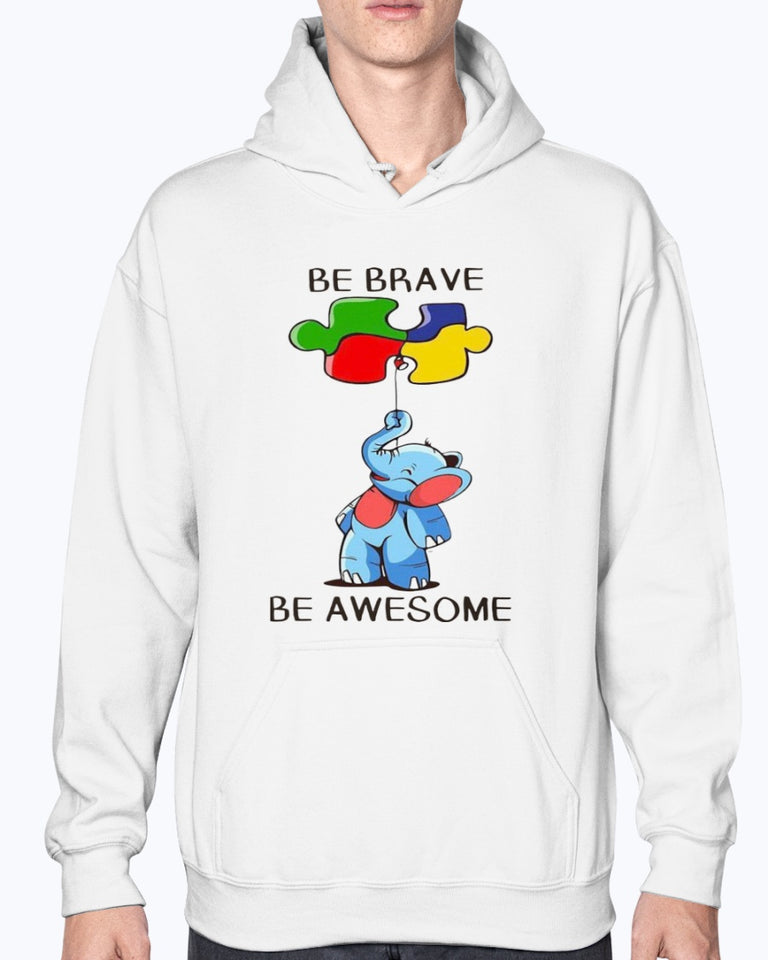 Elephant Autism Be Brave Be Awesome Shirt