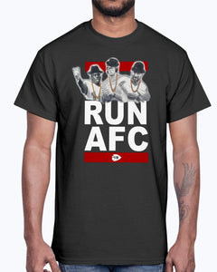 RUN AFC SHIRT Patrick Mahomes and Travis Kelce - Kansas City Chiefs