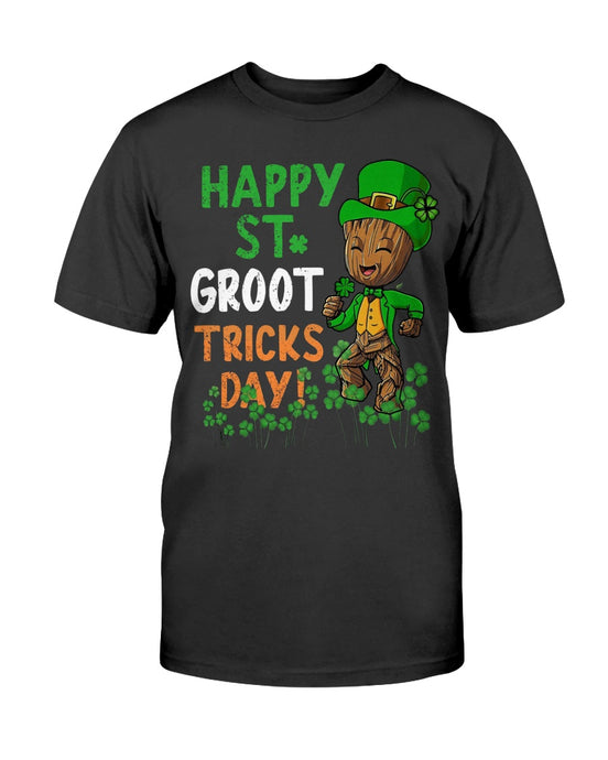 HAPPY ST. PATRICK'S DAY GROOT TRICKS DAY SHIRT